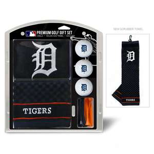 Detroit Tigers  Embroidered Golf Towel, 3 Golf Ball, And Golf Tee Set