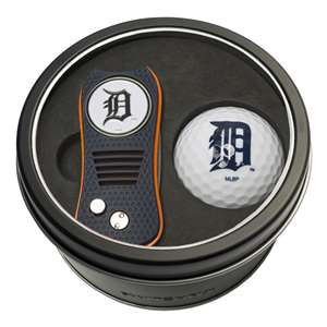 Detroit Tigers Golf Tin Set - Switchblade, Golf Ball