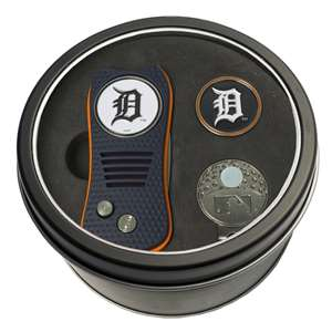 Detroit Tigers Golf Tin Set - Switchblade, Cap Clip, Marker