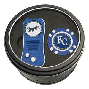 Kansas City Royals Golf Tin Set - Switchblade, Golf Chip