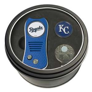 Kansas City Royals Golf Tin Set - Switchblade, Cap Clip, Marker