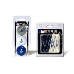 Kansas City Royals  3 Golf Balls And 50 Golf Tees