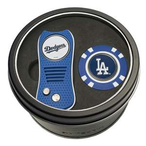 Los Angeles Dodgers Golf Tin Set - Switchblade, Golf Chip