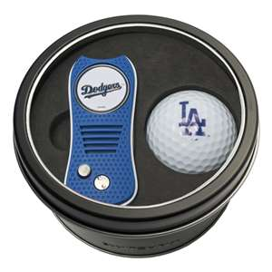 Los Angeles Dodgers Golf Tin Set - Switchblade, Golf Ball
