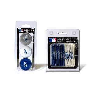 Los Angeles Dodgers  3 Golf Balls And 50 Golf Tees