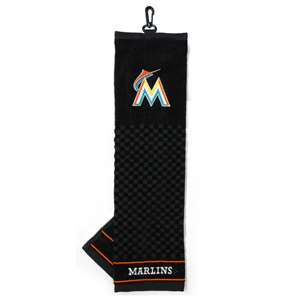 Miami Marlins Golf Embroidered Towel
