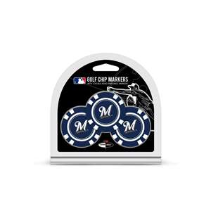 Milwaukee Brewers Golf 3 Pack Golf Chip