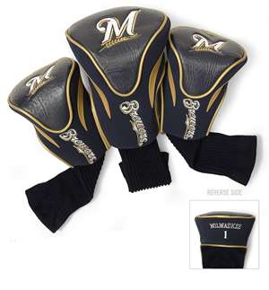 Milwaukee Brewers Golf 3 Pack Contour Headcover