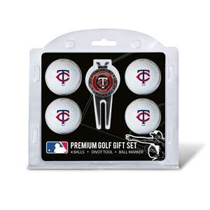 Minnesota Twins Golf 4 Ball Gift Set 96606