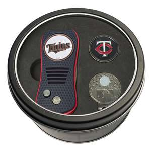 Minnesota Twins Golf Tin Set - Switchblade, Cap Clip, Marker 96657
