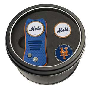 New York Mets Golf Tin Set - Switchblade, 2 Markers 96759