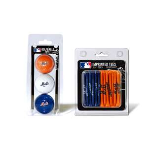 New York Mets  3 Golf Balls And 50 Golf Tees