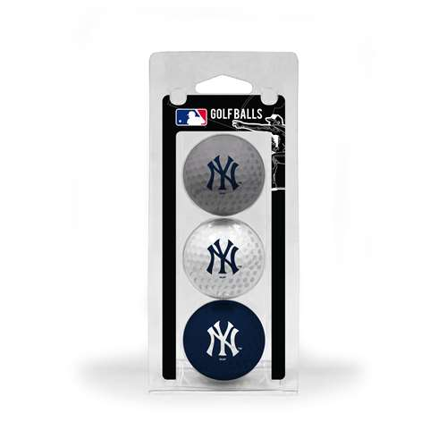 New York Yankees Golf 3 Ball Pack