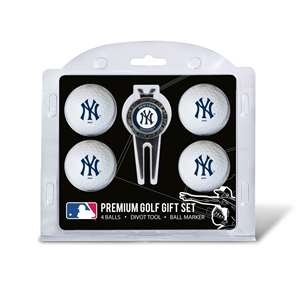 New York Yankees Golf 4 Ball Gift Set