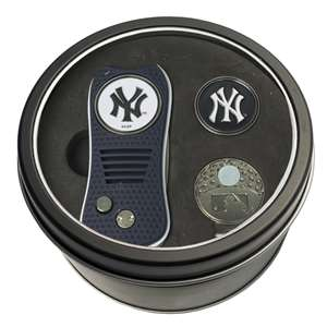 New York Yankees Golf Tin Set - Switchblade, Cap Clip, Marker
