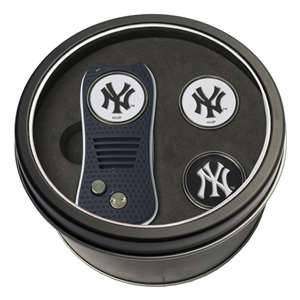 New York Yankees Golf Tin Set - Switchblade, 2 Markers