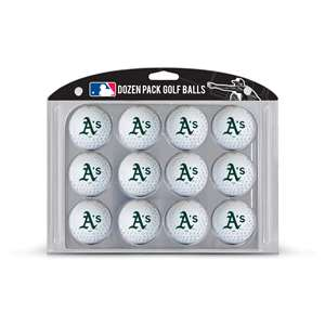 Oakland Athletics A's Golf Dozen Ball Pack