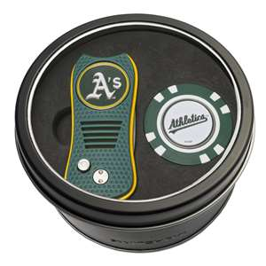 Oakland Athletics A's Golf Tin Set - Switchblade, Golf Chip