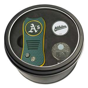 Oakland Athletics A's Golf Tin Set - Switchblade, Cap Clip, Marker 96957