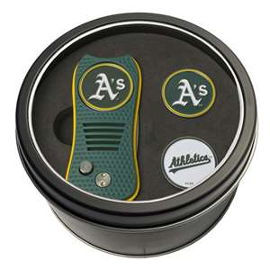Oakland Athletics A's Golf Tin Set - Switchblade, 2 Markers 96959
