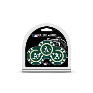 Oakland Athletics A's Golf 3 Pack Golf Chip