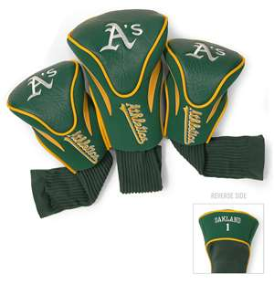 Oakland Athletics A's Golf 3 Pack Contour Headcover
