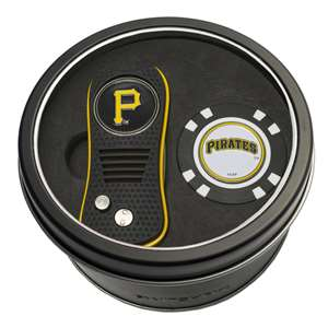 Pittsburgh Pirates Golf Tin Set - Switchblade, Golf Chip