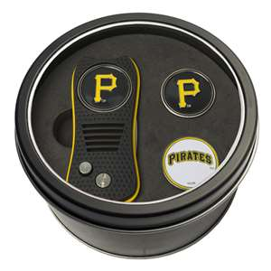 Pittsburgh Pirates Golf Tin Set - Switchblade, 2 Markers 97159
