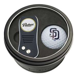 San Diego Padres Golf Tin Set - Switchblade, Golf Ball