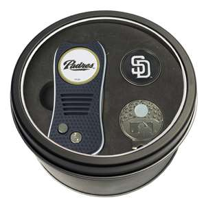 San Diego Padres Golf Tin Set - Switchblade, Cap Clip, Marker