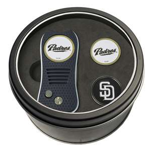 San Diego Padres Golf Tin Set - Switchblade, 2 Markers 97259