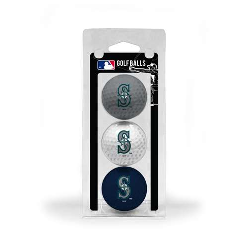 Seattle Mariners Golf 3 Ball Pack