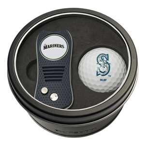 Seattle Mariners Golf Tin Set - Switchblade, Golf Ball