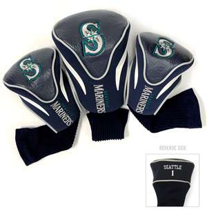 SEATTLE MARINERS Golf Club Headcover Contour 3 Pack