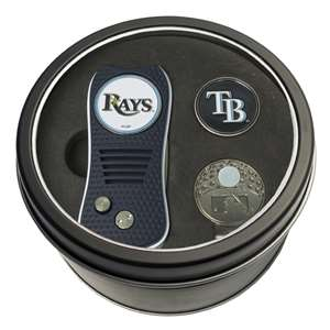 Tampa Bay Rays Golf Tin Set - Switchblade, Cap Clip, Marker