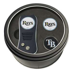 Tampa Bay Rays Golf Tin Set - Switchblade, 2 Markers