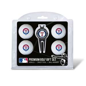 Texas Rangers Golf 4 Ball Gift Set