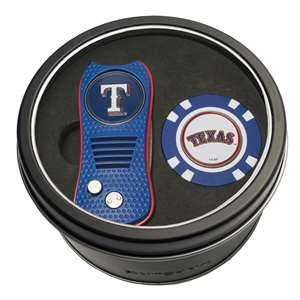 Texas Rangers Golf Tin Set - Switchblade, Golf Chip