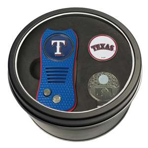 Texas Rangers Golf Tin Set - Switchblade, Cap Clip, Marker