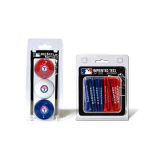 Texas Rangers  3 Golf Balls And 50 Golf Tees