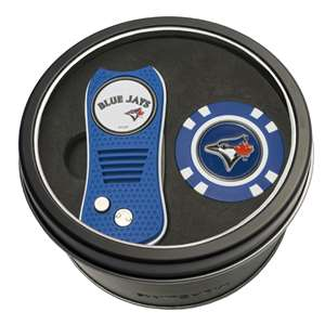 Toronto Blue Jays Golf Tin Set - Switchblade, Golf Chip