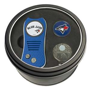Toronto Blue Jays Golf Tin Set - Switchblade, Cap Clip, Marker 97857