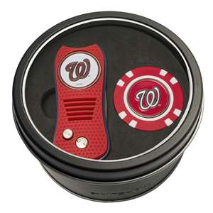 Washington Nationals Golf Tin Set - Switchblade, Golf Chip