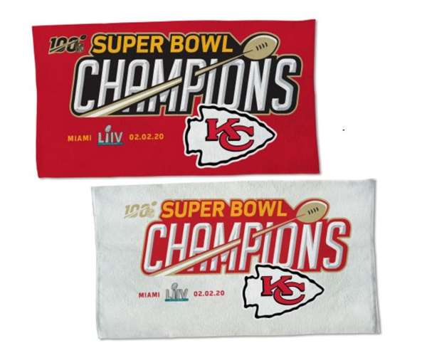 Kansas City Chiefs Super Bowl LIV 54 Champions  Locker Room Towel