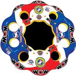 WOW Tube A Rama - 10 Person Island Towable Lake Float