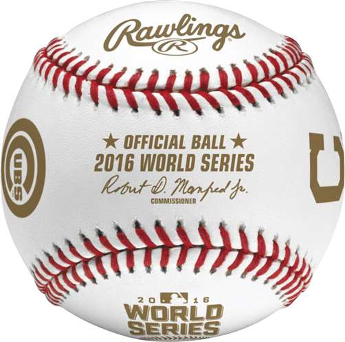 Rawlings 2016 Official MLB World Series Game Baseball Chicago Cubs vs Cleveland Indians