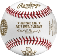 Rawlings 2017 Official Houston Astros World Series Champions Baseball With Display Cube
