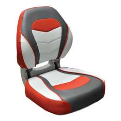 Wise Torsa Sport Folding Boat Seat   Crimson Red/ Reef Stone / Sky Grey