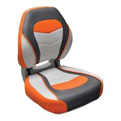 Wise Torsa Sport Folding Boat Seat Sunburst Orange / Reef Stone / Sky Grey