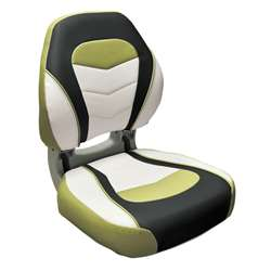 Wise Torsa Sport Folding Boat Seat Acadia Green / Kixx Charcoal / Sky Grey